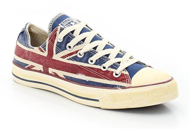 Converse CATS Union Jack Low Ankle Trainers on shopstyle.co.uk