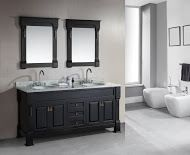 Design Element Marcos 72? Double Sink Vanity Set with Carrara White Marble Countertop in Espresso