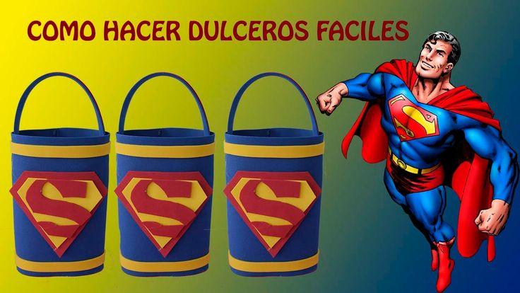 COMO HACER DULCEROS DE SUPERMAN FACIL/COTILLONES  SENCILLOS y ECONOMICOS - http://cryptblizz.com/como-se-hace/como-hacer-dulceros-de-superman-facilcotillones-sencillos-y-economicos/