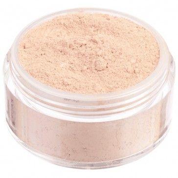Fondotinta in polvere libera 100% minerale, nuova formulazione High Coverage ad alta coprenza.  Tonalità chiarissima dal sottotono neutro.