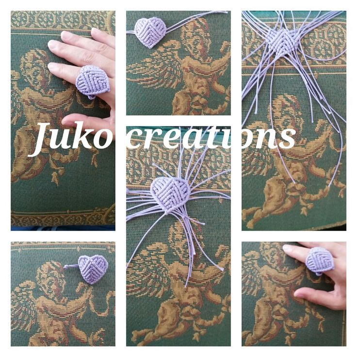 Ring heart macrame by Juko creations