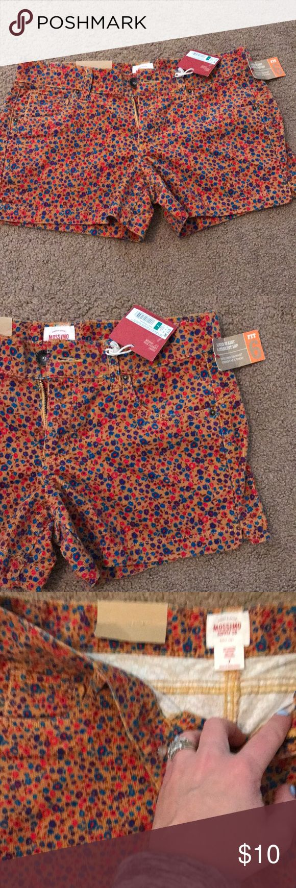 Women's shorts Women's Beautiful corduroy floral shorts. Size 7 NET Never worn Mossimo Supply Co. Other