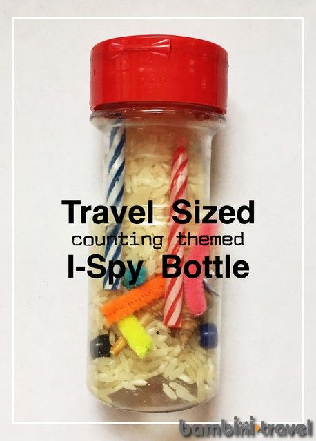 DIY Travel Sized ISPY Bottle | simple travel activity for children. perfect for family travel | Bambini Travel