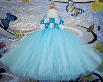 Sage Flower Girl Dress Tutu Dress Birthday by LittleEmpressOnEtsy