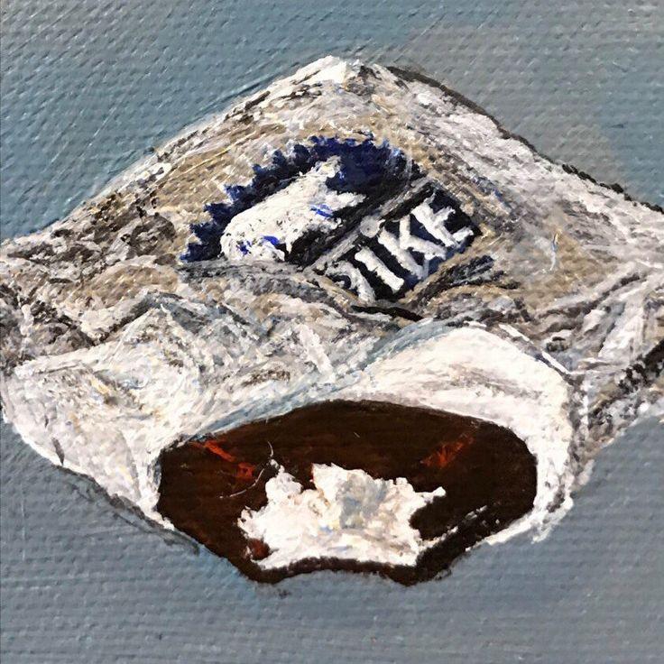 Mini Food Painting - Klondike Ice Cream Bar - Small painting acrylic on canvas original - Foodie art by TalFoolery on Etsy https://www.etsy.com/listing/488787826/mini-food-painting-klondike-ice-cream