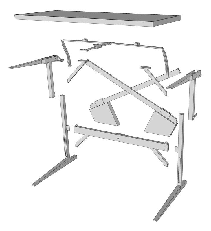 Wonderful Standing Desk Plans This Is The Design For I Would Like To On Inspiration Decorating