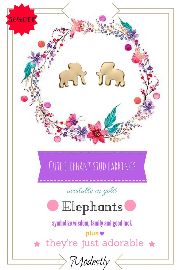 17 best our sales images on pinterest coupon codes code free cute elephant stud earrings fandeluxe Choice Image