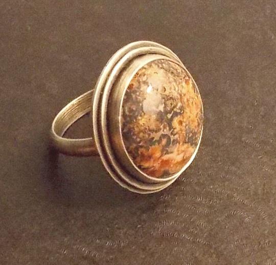 Adam Blythe....sterling silver and jasper ring