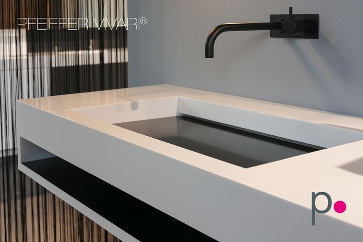 Bicoloured ViVARI Vanity, Made With Solid Surface Material CORIAN. #vivari  #washbasin #