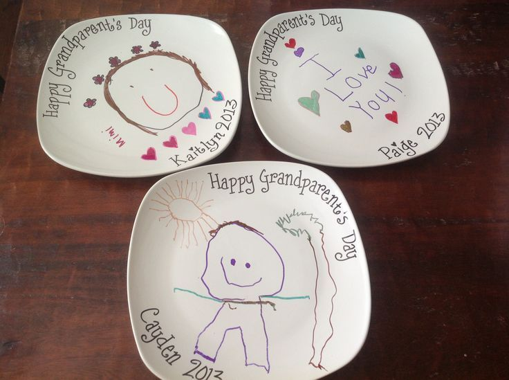 Grandparents Day Craft I Bought The Plates For 1 At