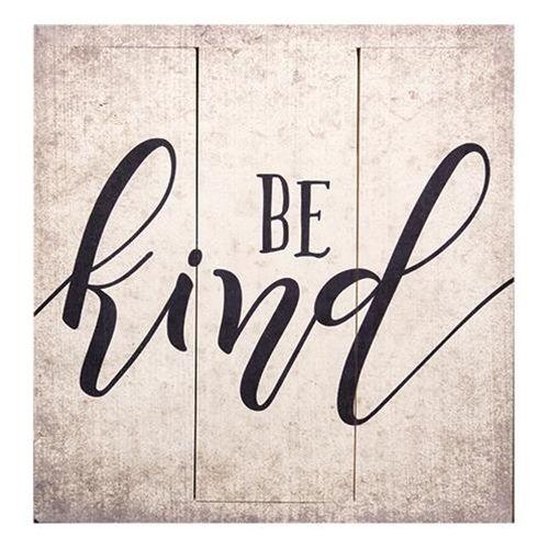 Be Kind Wooden Word Sign #wordart