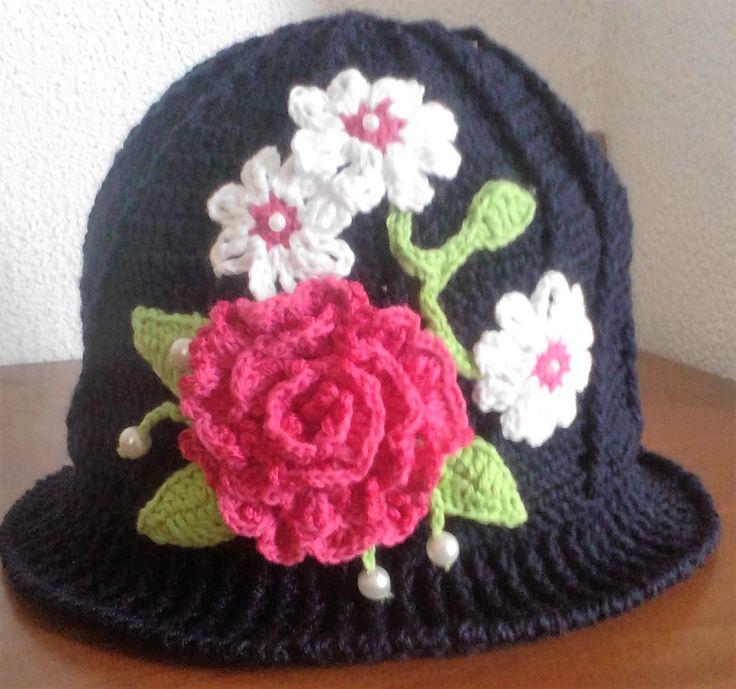 sombrero a crochet talla unica