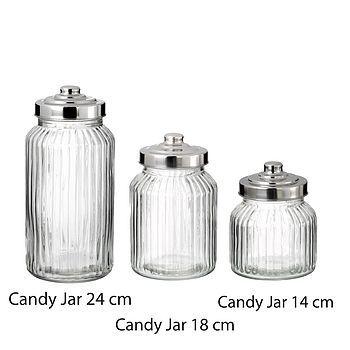 glass sweet jar by the wedding of my dreams | notonthehighstreet.com