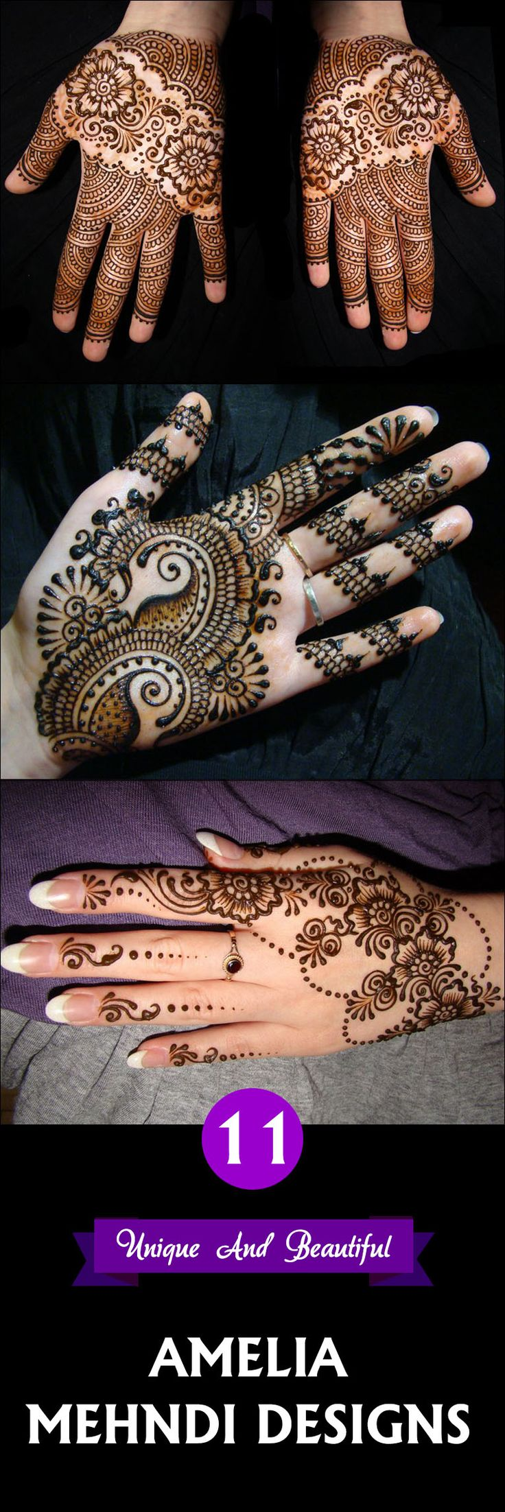 11 Unique And Beautiful Amelia Mehndi Designs