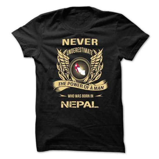 Never Underestimate The Power Of A Man Who Was Born In  - #cheap gift #thank you gift. MORE INFO => https://www.sunfrog.com/Geek-Tech/Never-Underestimate-The-Power-Of-A-Man-Who-Was-Born-In-Nepal.html?68278