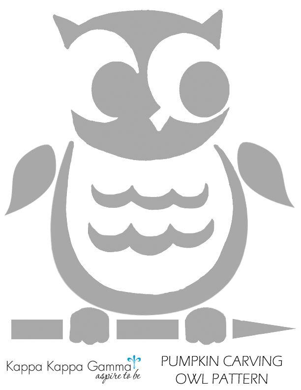 Owl pumpkin carving pattern! #KKG #KKG1870 #awesomeautumn