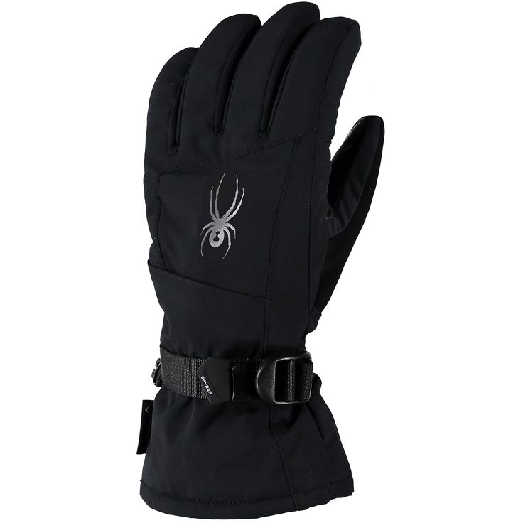 $140 The Spyder Synthesis Gore-Tex womens ski glove 2017 is lovely and warm, with 200 gsm of insulation on back of hand and palm, an over-the-cuff gauntlet plus adjustable wrist strap for best fit, and a zippered heater pack pocket when you need extra warmth. The Gore-Tex ensures that this glove will keep you dry.