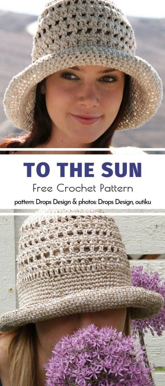 Natural Crochet Sun Hats Free Patterns