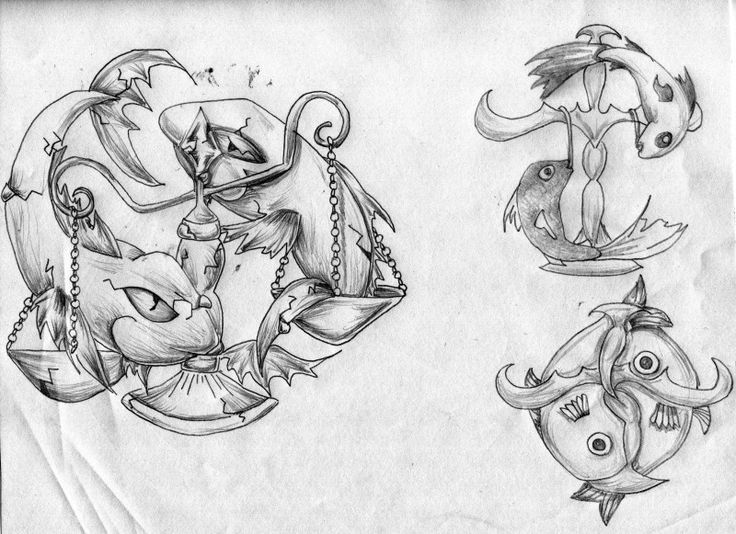 Pisces Libra Tattoo Drawing My Style Pinterest Libra