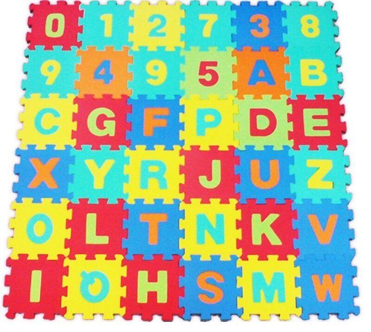 Details About Alphabet Numbers Eva Floor Mat Baby Room