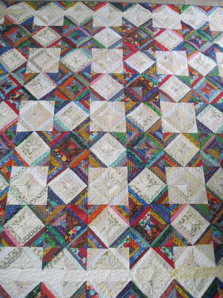 Finely Finished Quilts: My Scrap Quilts.  Love this quilt.  Every square inch is string pieced!