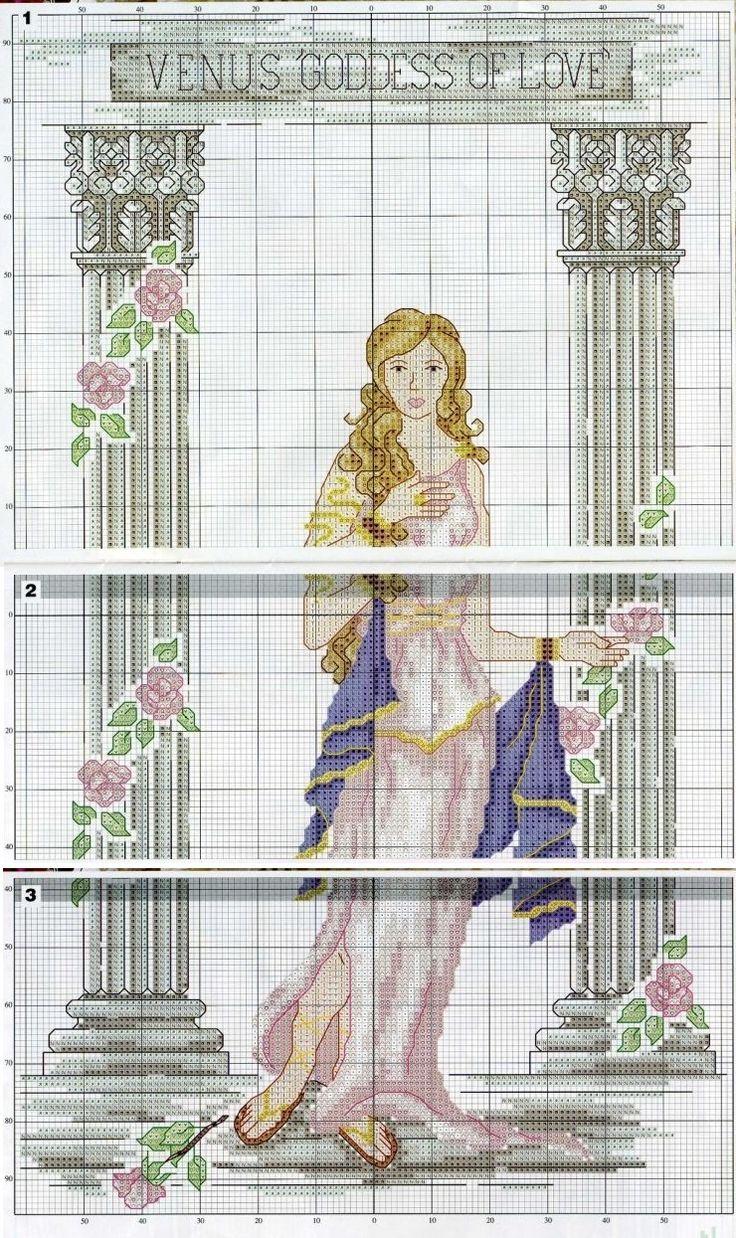 0 point de croix venus goddess of love - cross stitch part 2