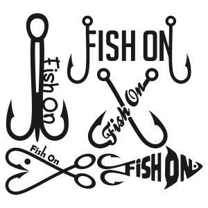 Fish On Fishing Hook Cuttable Design Cut File. Vector, Clipart, Digital  Scrapbooking Download