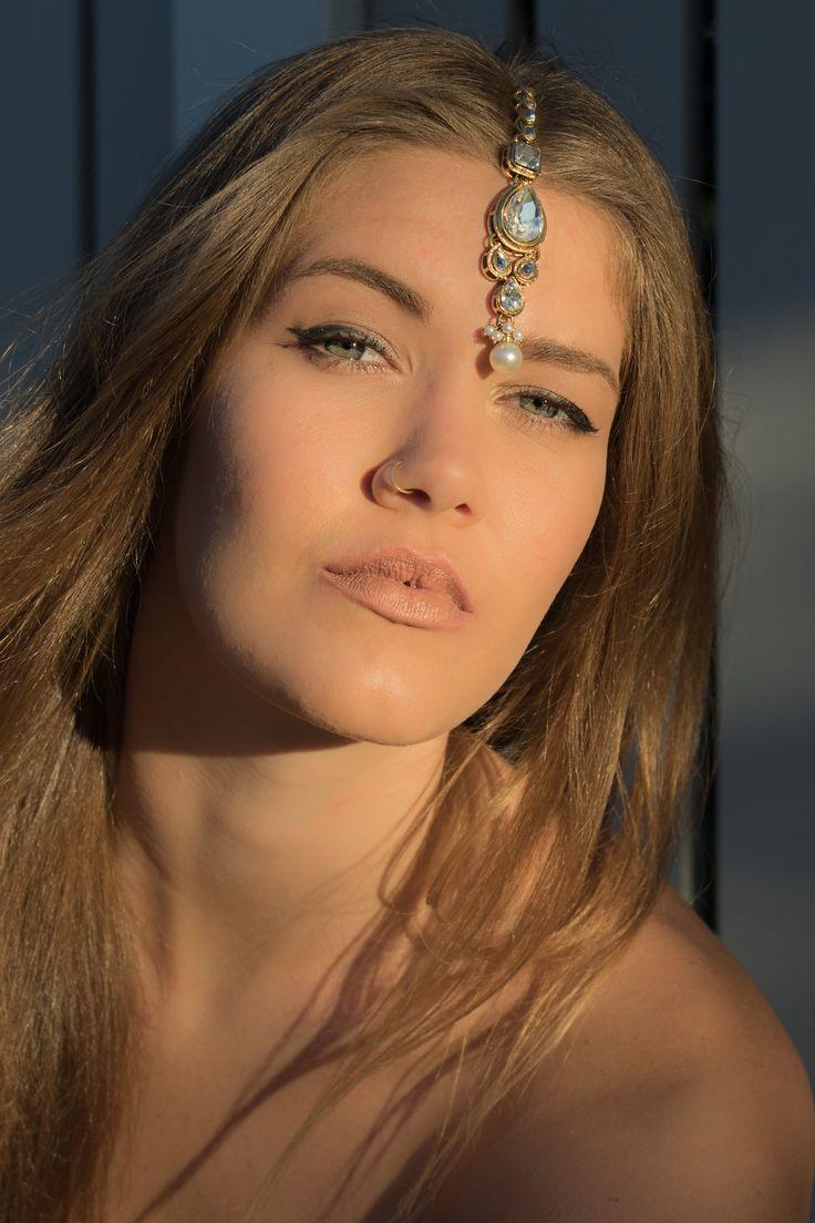 Stunning Diamante Teardrop Kundan Tikka - More Designs | HindiIndie.com