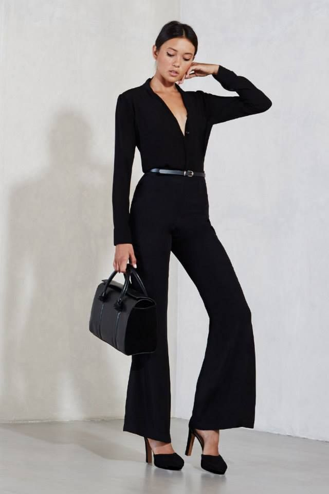 The Bowie Pant - There are some pants that when you wear them, you literally take over a room. These are those kind of pants. The Bowie Pant is a really sleek trouser with an ultra high waist and a wide flare leg. They have a hook/zip closure and they fit like a dream. Wear them with a matching blazer for a really killer suit, or they're also great for making pretty much any top look infinitely cooler.