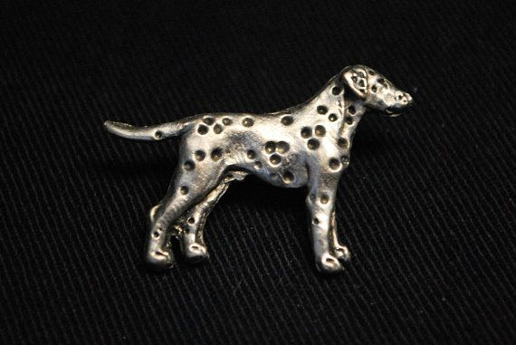 Dalmatian silver dog pin limited edition by ArtDogshopcenter