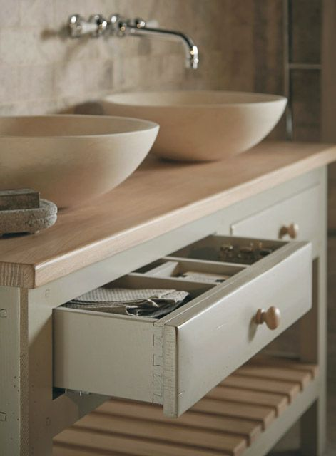 Bastide open washstand for Fired earth bathroom ideas