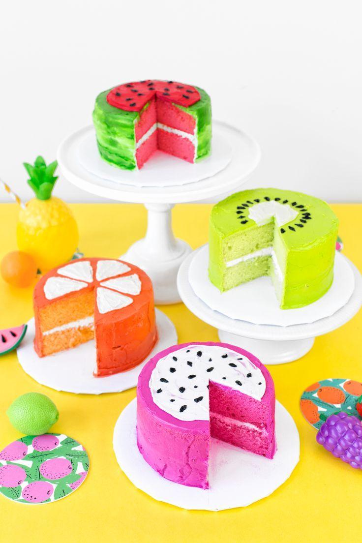 DIY Fruit Slice Cakes | studiodiy.com