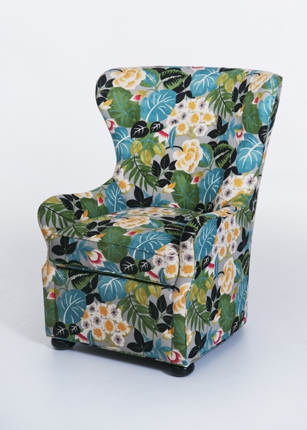 Love This Updated Twist On A Classic Wing Chair. AND, It Can Swivel Too