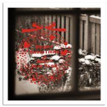 Amovible Wall Sticker Rouge Joyeux Guirlande De Noël Heureux Nouvel An Mur Décalques de Verre Fenêtre Décoration de La Maison Ornements De Noël Vinyle(China (Mainland))