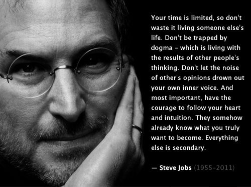 Steve Jobs Quote #quoteThoughts, Heart, Life, Stevejobs, Wisdom, Steve Jobs, Living, Inspiration Quotes, Wise Words