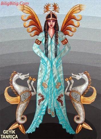 Deniz Tanrıçası - Geyik Tanrıça Türk Mitolojisi Karakteri - Türk Asya - Bilig Bitig, Asian Turkish, Тюрки России