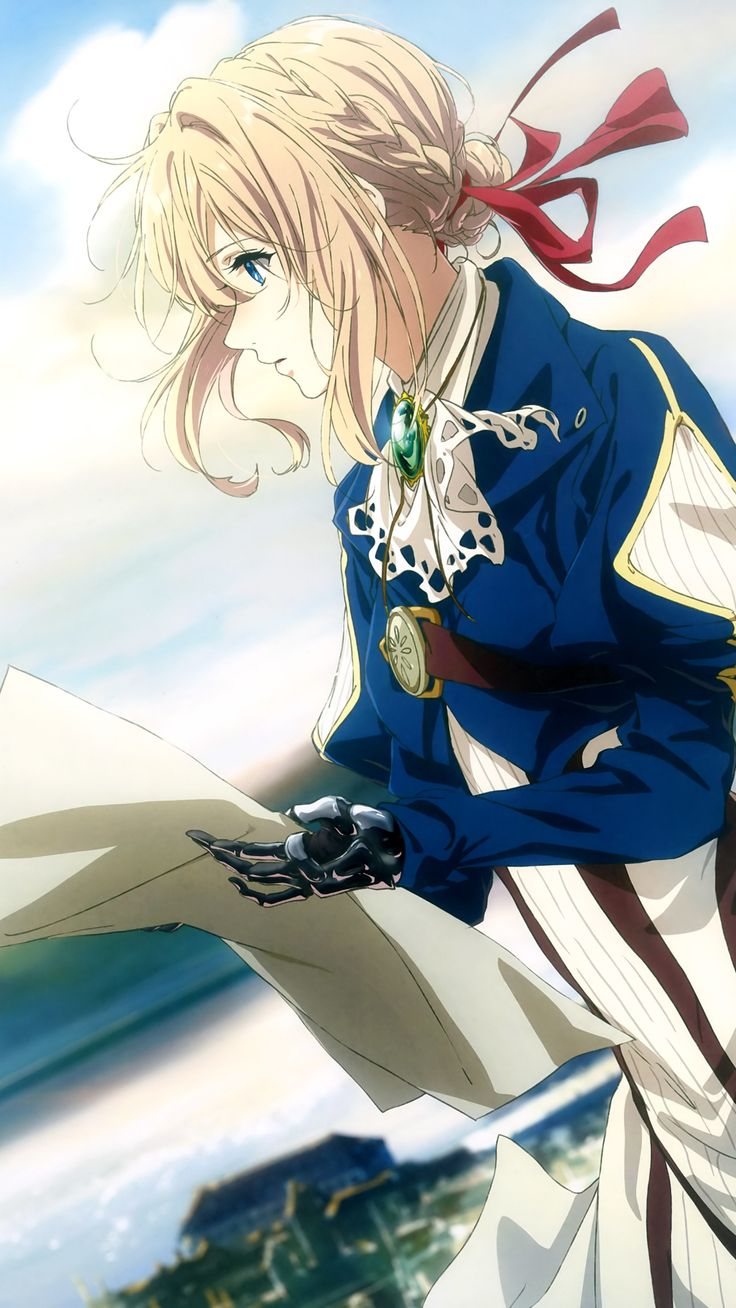 Don't get fooled by her appearance, Violet Evergarden is an authentic war weapon, completely trained to handle harsh realities and live on the battlefield. A human machine with high capabilities and military training who wants to understand human feelings and behaviors a little bit more.