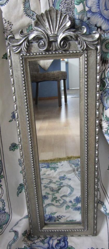 NEW ~ Rococo Fan Style Silver Wall Mirror ~ Stunning
