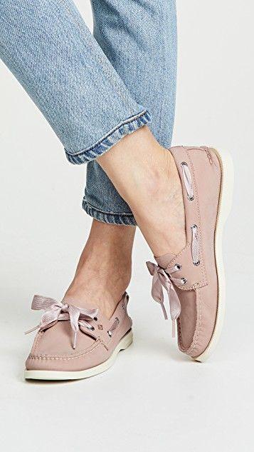 09f4aff75c58d Satin Lace Boat Shoes | Clodhoppers | Boat shoes, Sperrys, Shoes