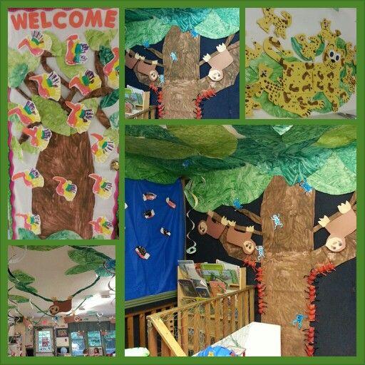 My jungle/Rainforest themed preschool classroom!