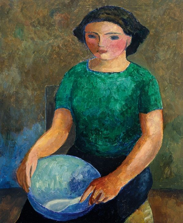 Mary With Blue Bowl (1938-39) by William Scott