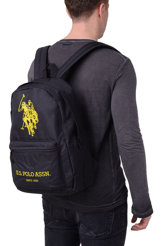 U S Polo Assn Backpack Logo Emblems Zipped Two Adjustable Strap Bag044 Polo Assn Bags Emblem Logo