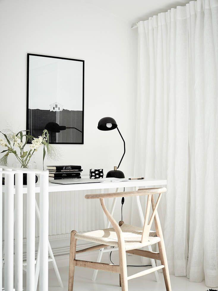 white on white black lamp black print