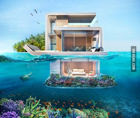 I so want one of this: a houseboat: three-deck floating villas where bedroom will be UNDERWATER