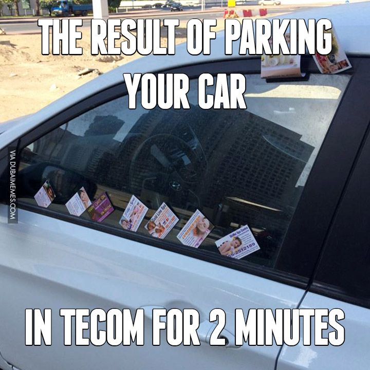 The result of parking your car in TECOM for 2 minutes # ...