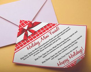 Holiday MINI FACIAL Instruction Cards! Instant Download-Printable-Standard Business Card Size! by DesignsAndDevotions on Etsy