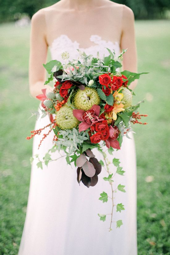 This bouquet is so perfect for a Valentine's Day #wedding! From http://polkadotbride.com/2013/02/australian-valentines-day-inspiration/  Photo Credit: http://byronlovesfawn.com/  Flowers by http://whiteivy.net.au/