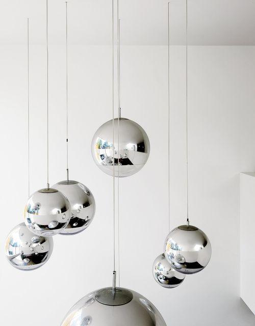 Tom Dixon will never cease to amaze - mirror ball pendants
