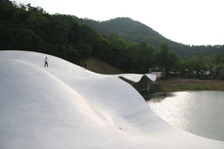 Toyo Ito, Meiso no Mori Municipal Funeral Hall, Gifu, Japan, 2004–06