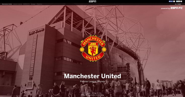 Manchester United FC Premier League preview, as featured on ESPN UK.